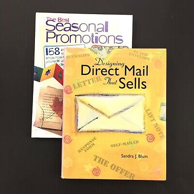 Lot Of 2 Graphic Design Art Books - Direct Mail That Sells Seasonal Promotions