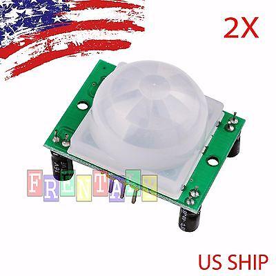 2x Hc-sr501 Pir Ir Passive Infrared Motion Detector Sensor Module Arduino Diy