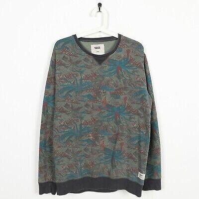 Vintage VANS Abstract Sweatshirt Jumper Green | Large L