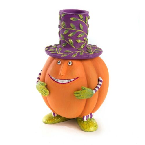 MacKenzie Childs ADORABLE Patience Brewster PETER PUMPKIN TAPER CANDLE HOLDER