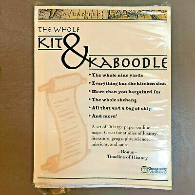 Geography Matters The Whole Kit & Kaboodle Paper Maps World USA Continents NIP!