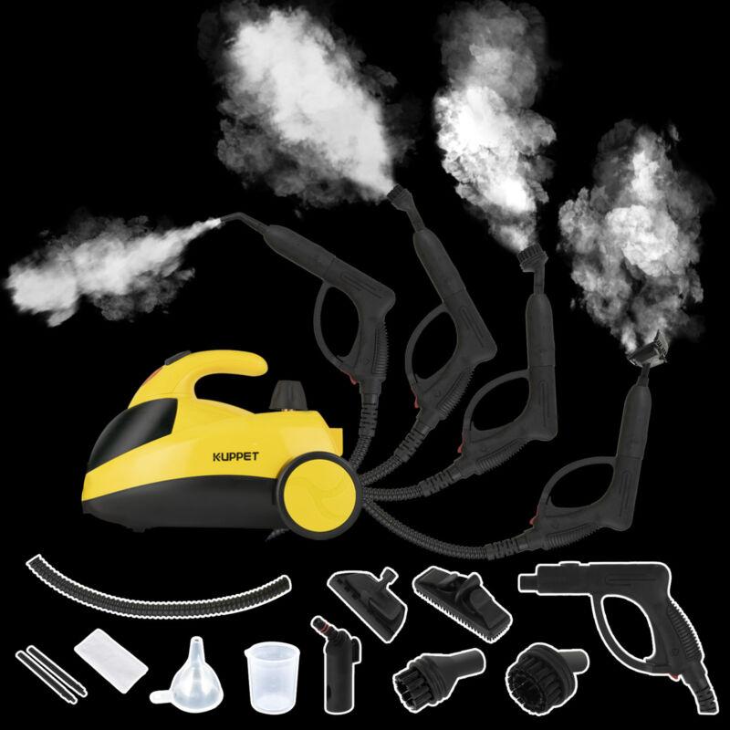 Portable Mini Pressurized Steam Cleaner w/Multi-Purpose Brushes&Heads 1500W 51Oz