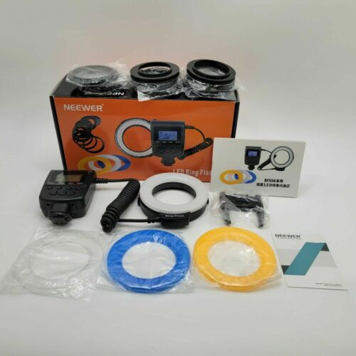 Neewer Macro 48 LED Ring Flash Bundle with Adapter Rings and Flash Diffusers