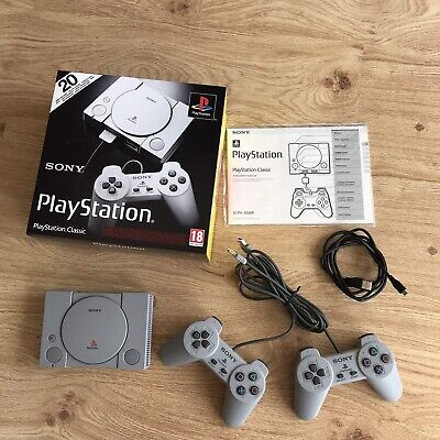 Boxed Sony PlayStation One Classic Console PS1 Mini  20 Games 2 Controllers