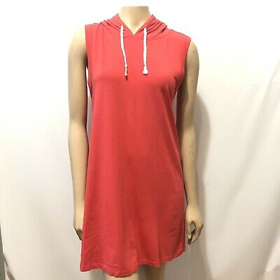 Heart Hoodie Dress - Heart and Hips Short Hoodie Dress Size Large Orange Color