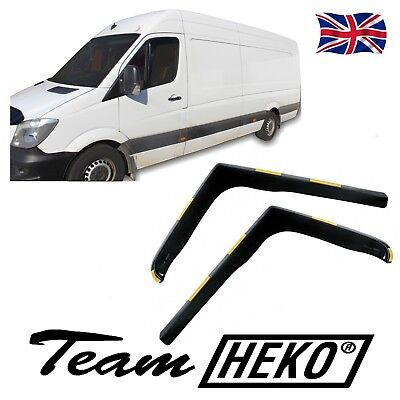 WIND DEFLECTORS for VW CRAFTER  2006-2017   fit 2pc HEKO TINTED
