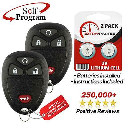 2 For 2007 2008 2009 2010 2011 2012 2013 Chevrolet Avalanche Remote Key Fob