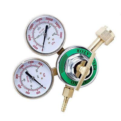 Cga540 Pressure Oxygen Regulator Welding Gas Gauge Cutting Torch Tool 2 Gauges