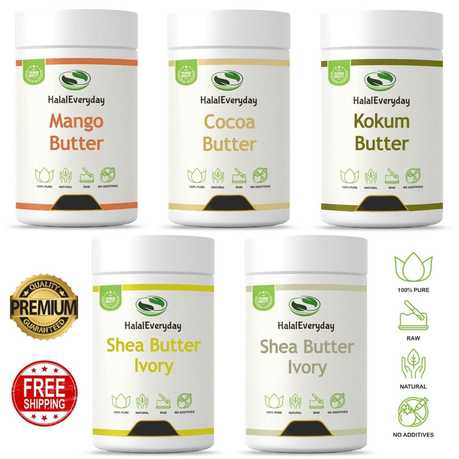 Raw African Shea - Mango - Cocoa - Kokum Butter 100% Organic