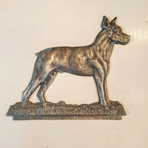 Staffordshire Bull Terrier Boxer Dog Cast Metal Sign Topper Shop Project Plaque