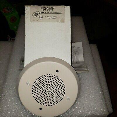 Faraday 2955 Fire System Alarm Speaker White