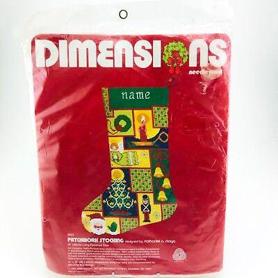 Наборы для вышивки Dimensions Patchwork Stocking