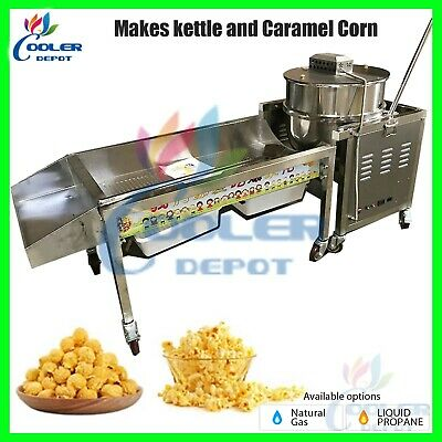 Kettle Caramel Popcorn Corn Machine Gourmet Popper 90 Quart Commercial New Sale