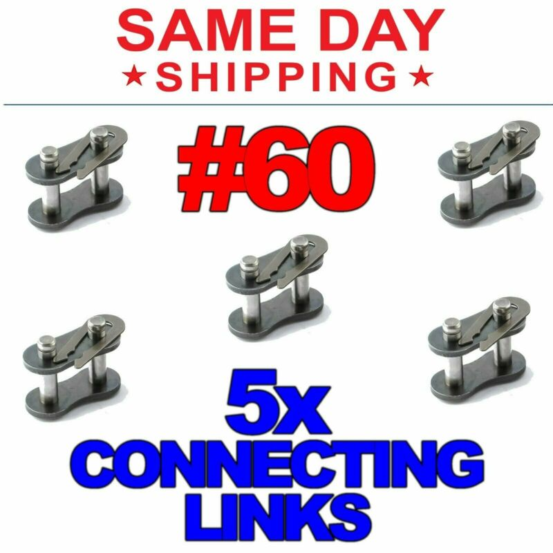 #60 Roller Chain Connecting Links (Lot of 5)