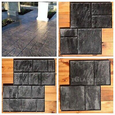 Set 3pcs Concrete Texture Rubber Stamps Decorative Printing Cement Mats Old City