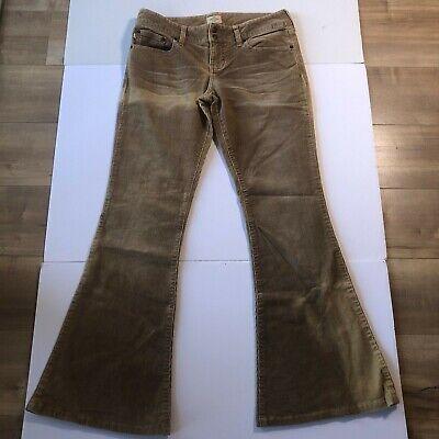 Abercrombie Fitch Corduroy Flare Pants Rust Orange Size 6