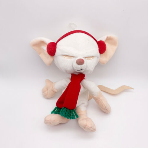 "Warner Brothers Animaniacs 7"" PINKY AND THE BRAIN Christmas Plush Toy 1998"