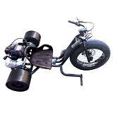 Gas Powered Big Wheel BLACK Drift Trike Drifter 2 stroke 2.5hp 30mph ScooterX