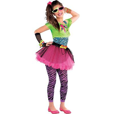 Totally Awesome 80s 1980's Dance Retro Neon Girls Teens Kids Fancy Dress Costume](Awesome 80s Costumes)