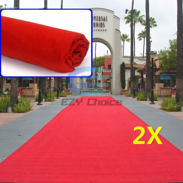 2x Red Carpet Runner Hollywood Awards Night Casino Wedding Decoration Party 5*1m
