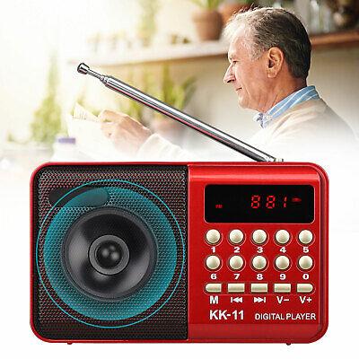 Portable Mini Digital FM Radio Stereo Speaker Rechargeable M