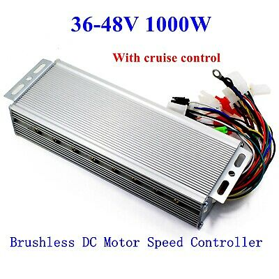 Us 36-48v 1000w E-bike Brushless Dc Motor Speed Controller With Cruise Lines