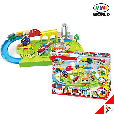 TITIPO & FRIENDS Moving TRAIN TOWN Rail Sound Play Set Kids - Moving Train Set