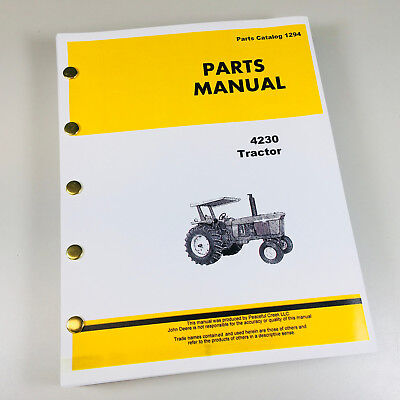 Parts Manual Catalog For John Deere 4230 Tractor