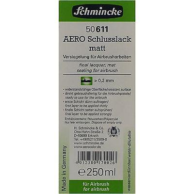 Schmincke Aero Schlusslack matt Airbrush Farbe 250ml Versieglung 50 611