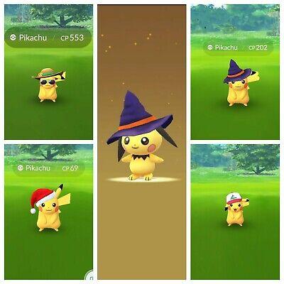 Pokemon Go Summer Hat,Santa,Halloween, Ash Hat Pikachu Pichu Trade