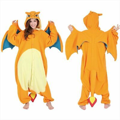 Sazac kigurumi Cosplay Pokemon Charizard Lizardon unisex 165-175cm Fleece New