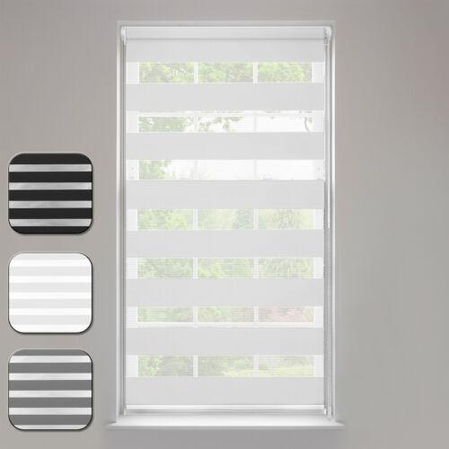 Doppelrollo Duo Rollo Klemmfix ohne Bohren Fenster-Rollo Seitenzug Springrollos