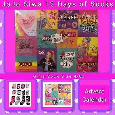 Nickelodeon JoJo Siwa, 12 Days Of Socks, Advent Calendar, Girls, BNIB