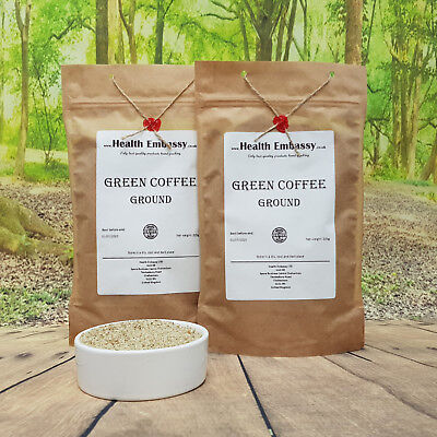 Granos de Café Verde 225g - Molido - Health Embassy - 100% Natural