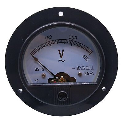 Us Stock Ac 0 450v Round Analog Volt Pointer Needle Panel Meter Voltmeter