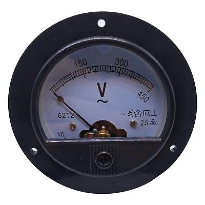 Us Stock Ac 0 450v Round Analog Volt Pointer Needle Panel Meter Voltmeter