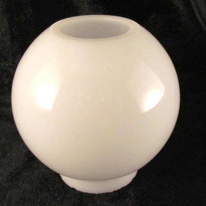 Miniature Opal Glass Ball Shade for old mini oil lamp / 2 inch fitter