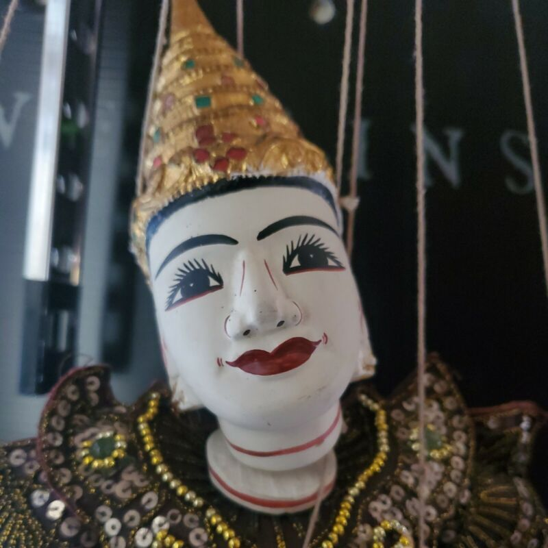 Vintage Thai Burmese String Puppet Marionette - Great Condition 19 inches tall
