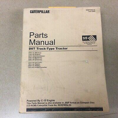 Cat Caterpillar D8t Parts Manual Book Catalog List Tractor Bulldozer C15 Sn Kpz