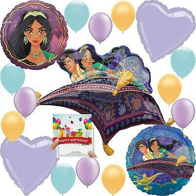 Aladdin Party Supplies Birthday Balloon Decoration Deluxe Bundle with Birthday ](Birthday Decoration With Balloons)