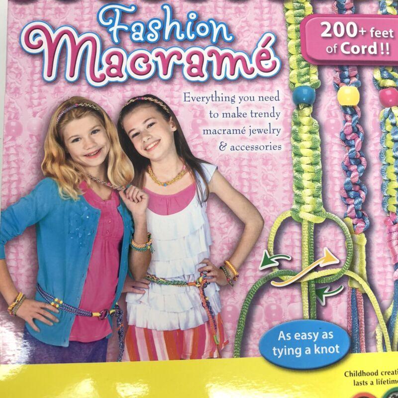 Creativity for Kids Fashion Macrame 200+ feet of Cord Crafts  Yarn Macrame Kits