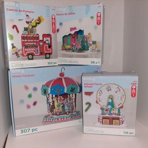 Creatology Christmas Foam 3D Puzzles Craft Kits x4 NEW Fire Truck Ferris Wheel +