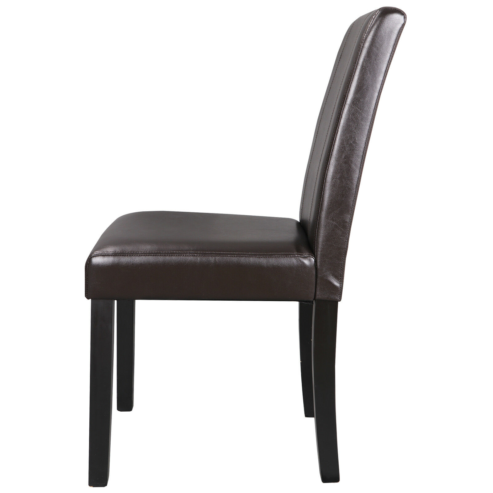 8 Set Dining Parson Room Chairs Kitchen Formal Elegant Leather Design  Brown Chairs