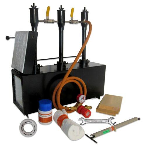 Triple Burner Gas Propane Forge Furnace Blacksmith Knife making w/ 1 Door