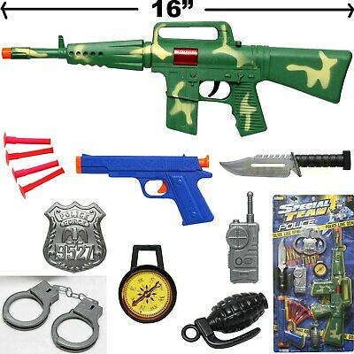 MACHINE GUN TOY SET ASSAULT RIFLE MILITARY ARMY CAR-15 M-16 AK-47 CAMOUFLAGE