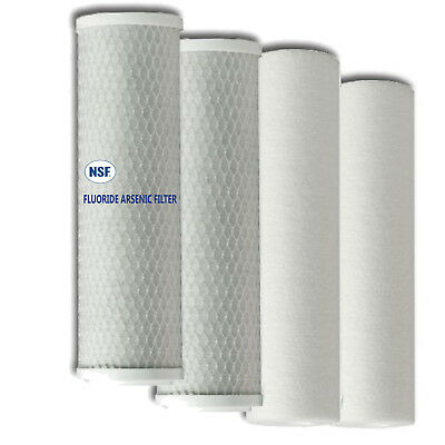 Replacement Filters Standard Size 2 Bone Char Fluoride/Arsenic 2 Sediment Filter