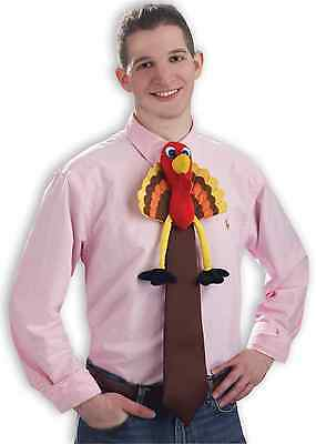 TURKEY TIME TIE THANKSGIVING HALLOWEEN ADULT COSTUME ACCESSORY