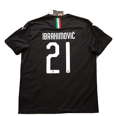 2019/20 AC Milan Third Jersey #21 IBRAHIMOVIC XL Puma ROSSONERI Soccer NEW image