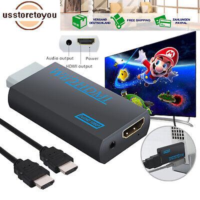 Wii zu HDMI Adapter Konverter Stick Upskaler 720p 1080p 60HZ Full HD TV Audio DE gebraucht kaufen  Bremen