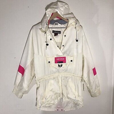 Nevica Vintage Womens Ski jacket Snowboard Retro Insulation Size 8 Off White